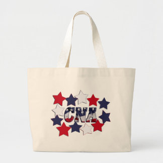 STAR SPANGLED CNA - CERTIFIED NURSE ASSISTANT JUMBO TOTE BAG
