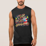 Star Spangled Hammered 4th of July Sleeveless Tee