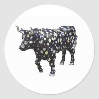 """Star Spangled Ox"" sticker sheet (Stony Brook)"