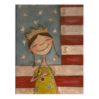 Star-Spangled Princess - Postcard