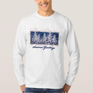 Star Spangled Seasons Greetings White T-Shirt