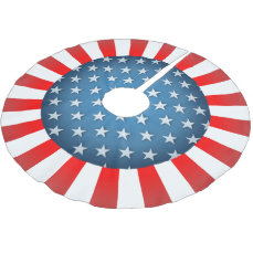 Star-Spangled Style Brushed Polyester Tree Skirt