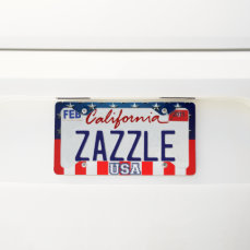 Star-Spangled Style License Plate Frame