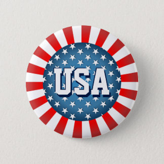Star-Spangled Style Pinback Button