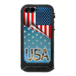 Star-Spangled Style Waterproof iPhone SE/5/5s Case