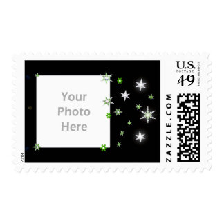 Star Sparkle Holiday Black (photo frame) Stamps