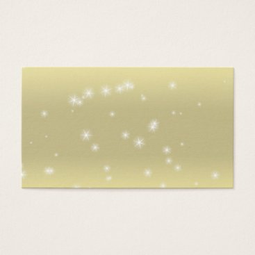 Professional Business Star Sparkle Light Gold Sky Business Cards