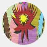 Star Sparkle Round Sticker