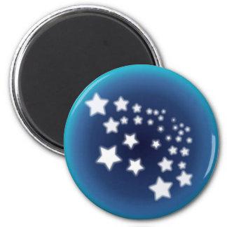 Star Spatter 2 Inch Round Magnet