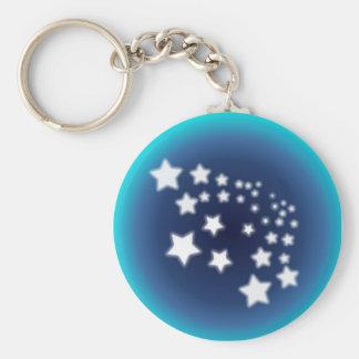 Star Spatter Basic Round Button Keychain