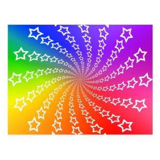 Star Spiral & Color Wheel: Postcard