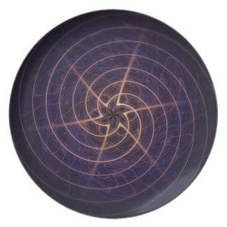 Star Spiral Melamine Plate