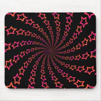 Star Spiral: Orange & Pink: Custom Mousepad