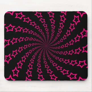 Star Spiral Pink Black Custom Mousepad