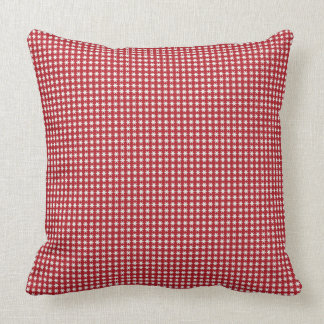 Star Spotted Red Pillow