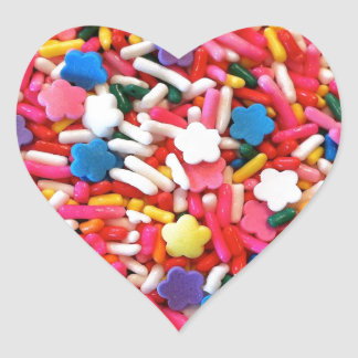 Star Sprinkles Heart Sticker
