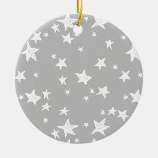 Star/Stars - Slate Grey Neutral / Andrea Lauren Ceramic Ornament
