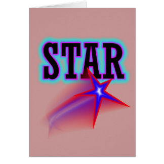 Star Stationery Note Card