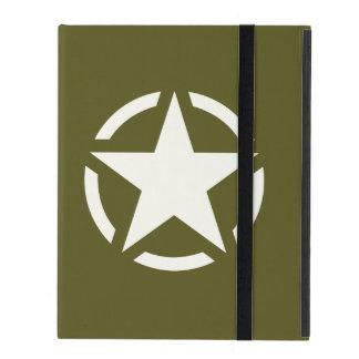 Star Stencil Classic on Khaki Green iPad Case