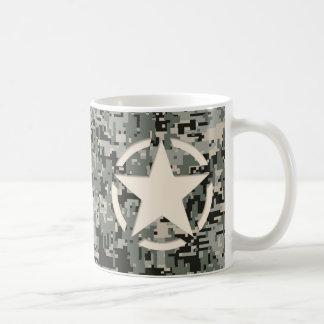 Star Stencil Style Khaki Digital Camouflage Coffee Mug