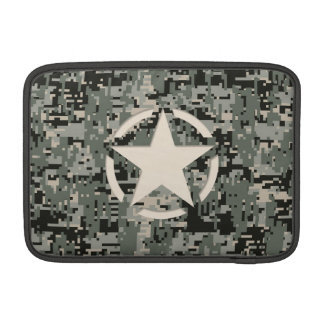 Star Stencil Style Khaki Digital Camouflage MacBook Air Sleeves