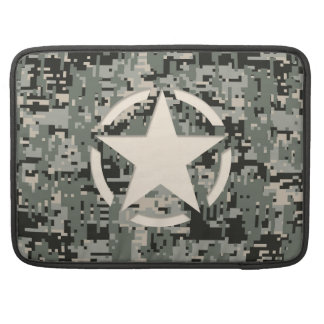 Star Stencil Style Khaki Digital Camouflage MacBook Pro Sleeves