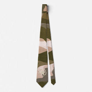Star Stencil Vintage Burlap Decal on Camo Style Tie