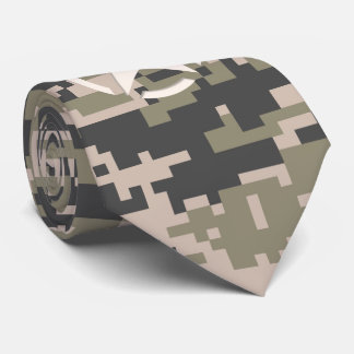 Star Stencil Vintage Decal Digital Camo Style Neck Tie