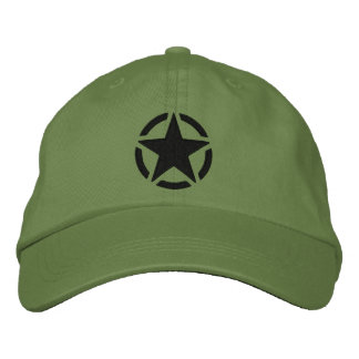 Star Stencil Vintage Decal Stylish Embroidery Embroidered Baseball Cap