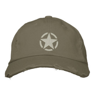 Star Stencil Vintage Decal Stylish Embroidery Embroidered Baseball Hat