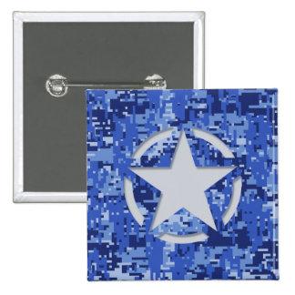 Star Stencil Vintage Jeep Decal Blue Digital Camo Pins