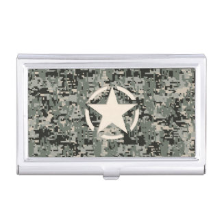 Star Stencil Vintage Jeep Decal Digital Camo Style Business Card Holder