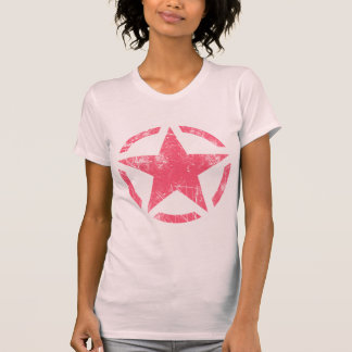 Star Stencil Vintage Jeep Decal Grunge Style Tee Shirts