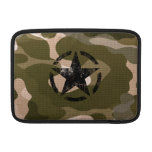 Star Stencil Vintage Jeep Decal on Camo Style MacBook Air Sleeves