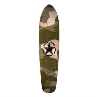 Star Stencil Vintage on Camouflage Skateboard Deck