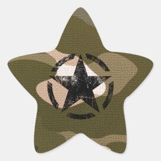 Star Stencil Vintage on Camouflage Star Sticker