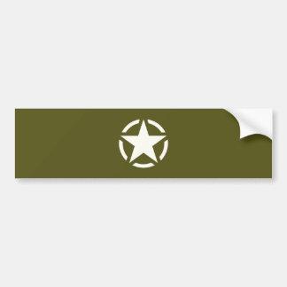 Star Stencil Vintage on Khaki Green Bumper Sticker
