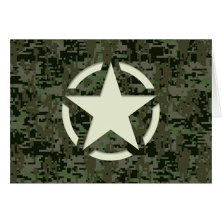 Star Stencil Vintage Symbol Digital Camouflage Card