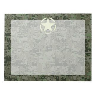 Star Stencil Vintage Symbol Digital Camouflage Notepad