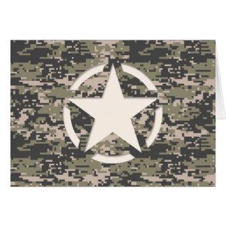 Star Stencil Vintage Tag Digital Khaki Style Card