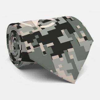Star Stencil Vintage Urban Digital Camo Style Neck Tie