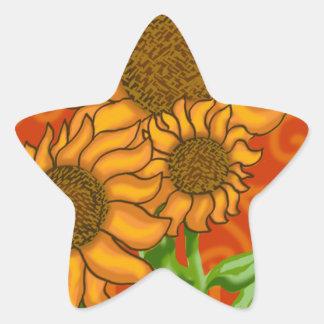 Star Sticker/Sunflower Trio Star Sticker