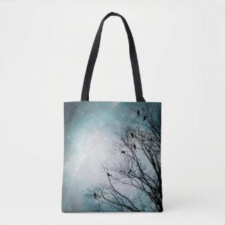 Star Storm Crows Tote Bag