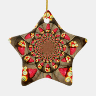 Star STRAWBERRY VINTAGE RED & ELLOW Ornament