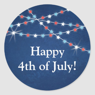 Star String Lights 4th of July Stickers