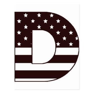 star stripe letter D Postcard