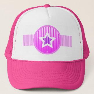 Star Stripe White Pink Hat