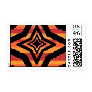Star Stripes Postage Stamps