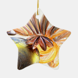 Star Struck Abstract Ceramic Ornament