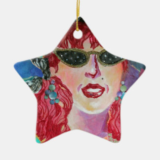 Star Struck Ceramic Ornament
